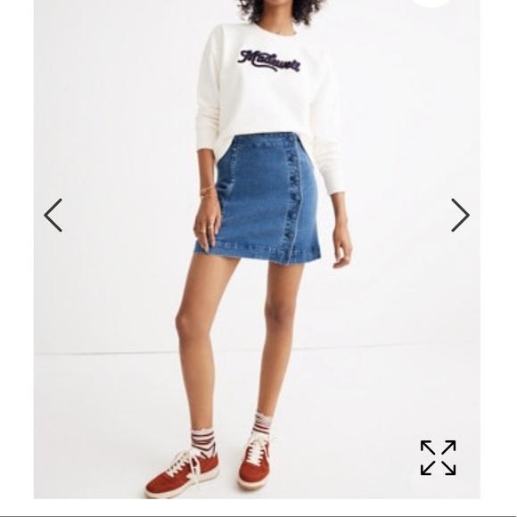 68c4f05463 Madewell Skirts   Nwt Stretch Denim Aline Mini Skirt   Poshmark